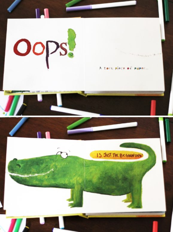 Love this Beautiful Oops! book and there is a fun activity with a free printable to do with kids via @PagingSupermom #freeprintables