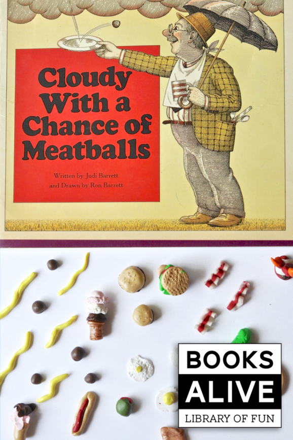 Have your kdis make clay food after reading Cloudy with a Chance of Meatballs via @PagingSupermom #BooksAlive