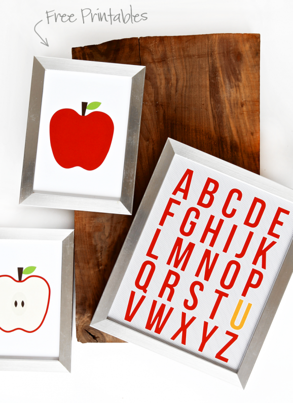 Cute Alphabet Art Print and other Free Printables for Back to School via @PagingSupermom