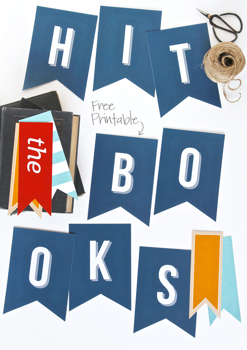 Love this free and cute Back to School Banner from @PagingSupermom #freeprintables