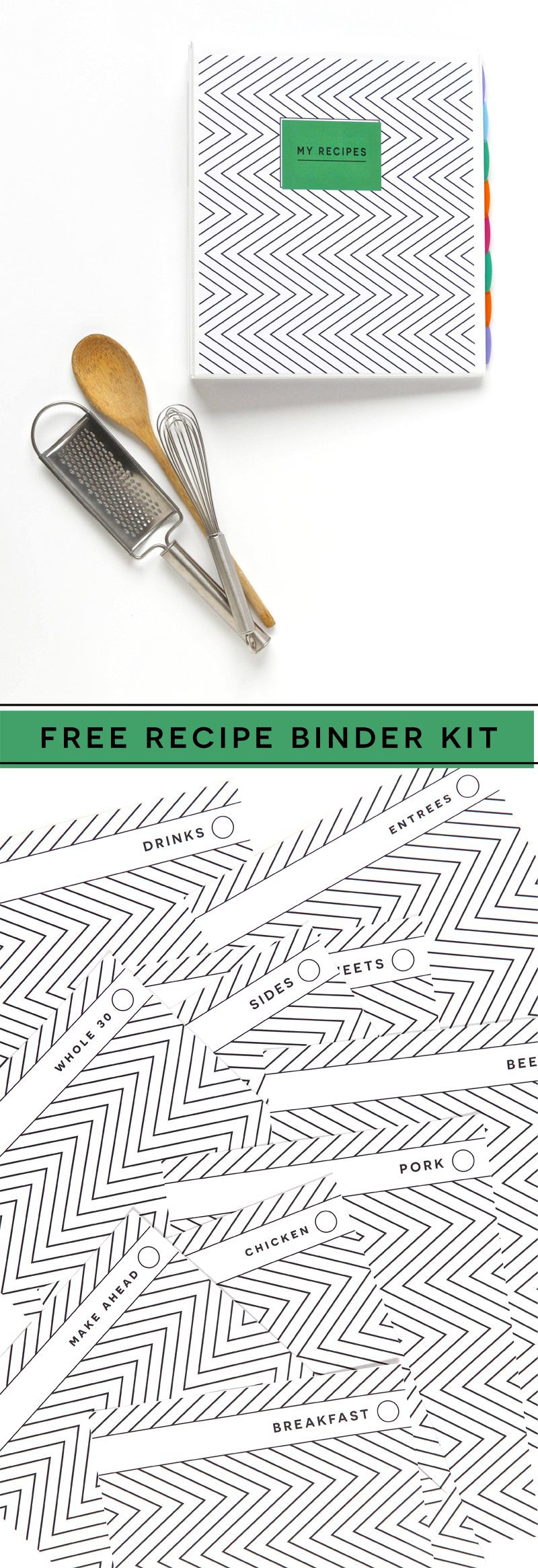 image relating to Free Printable Recipe Binder Kit referred to as Printable Recipe Binder Package - Absolutely free versus Paging Supermom