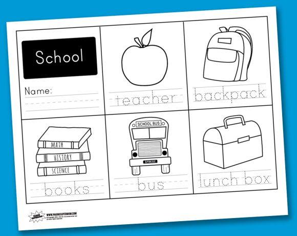 Worksheet Wednesday: School Handwriting