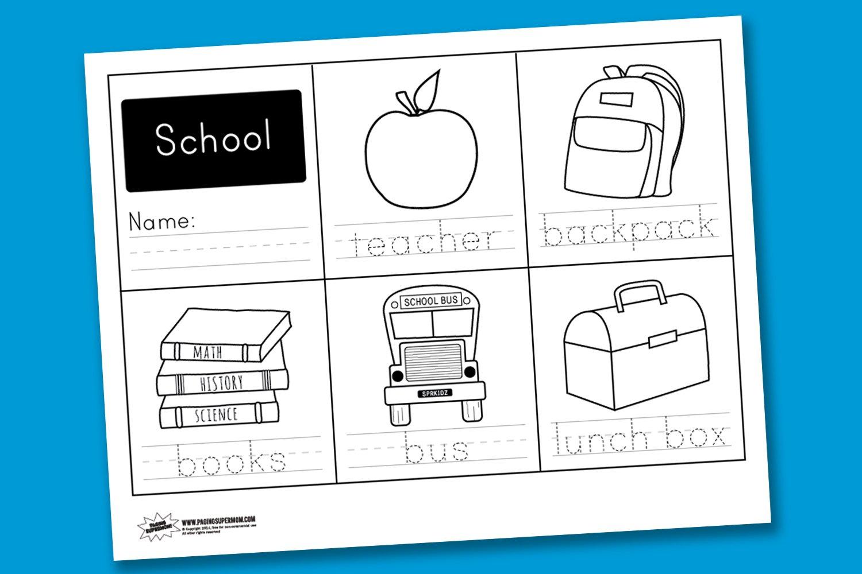 worksheet wednesday school handwriting paging supermom. Black Bedroom Furniture Sets. Home Design Ideas