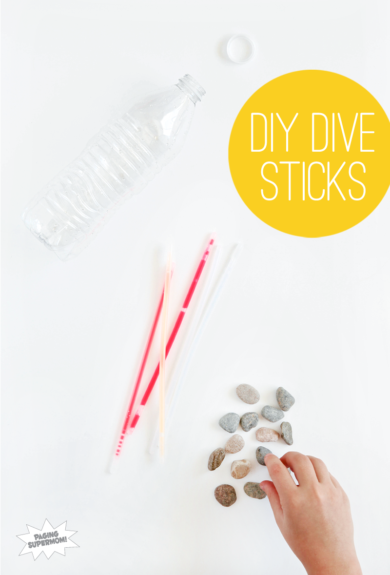 How to Make Glow-in-the-Dark Diving Sticks for your pool via @PagingSupermom