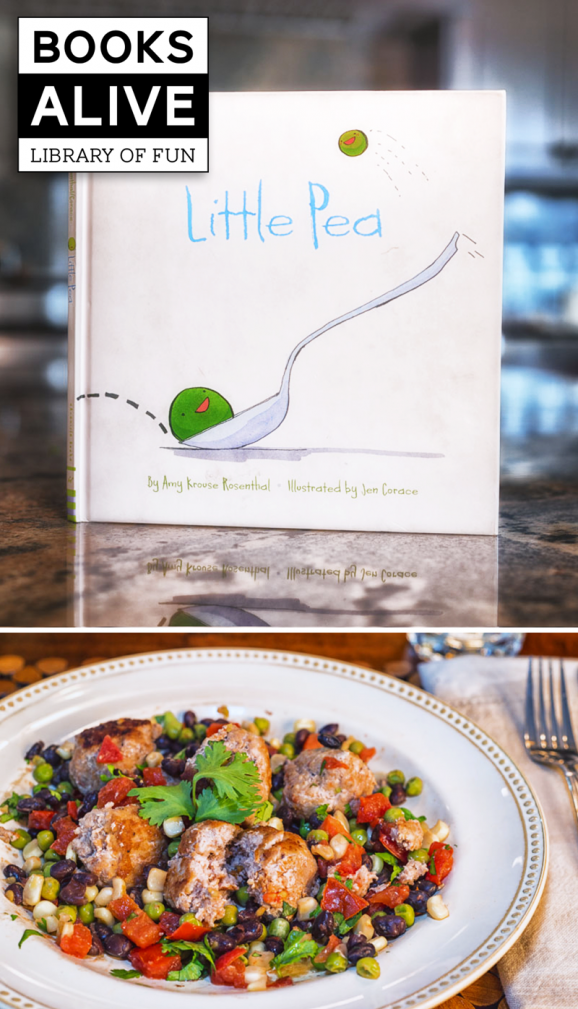 Little Pea #BooksAlive with Homemade Meatballs via @PagingSupermom