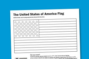 Printable-US-Flag-Colorong-Worksheet