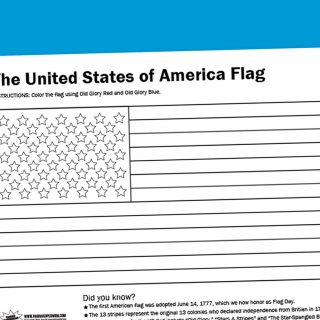 Worksheet Wednesday: USA Flag Coloring Page