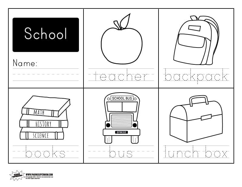 Worksheets Back To School Printable Worksheets Opossumsoft