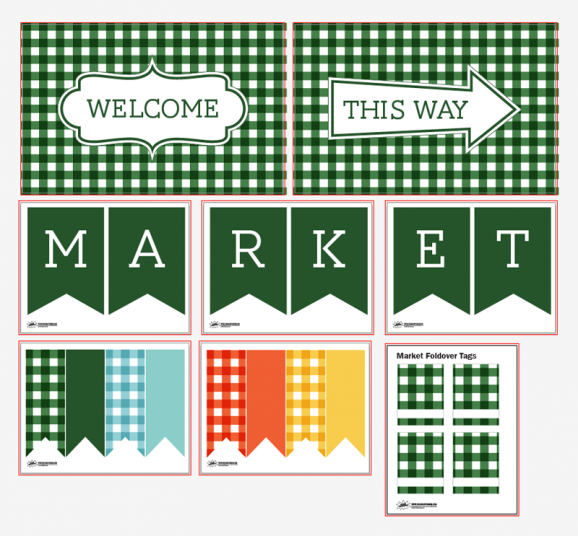 Free printables for a Market Party via @PagingSupermom