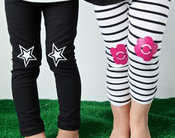 DIY Knee-Patch Leggings