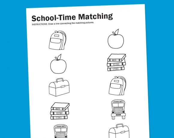 Worksheet Wednesday: School-Time Matching