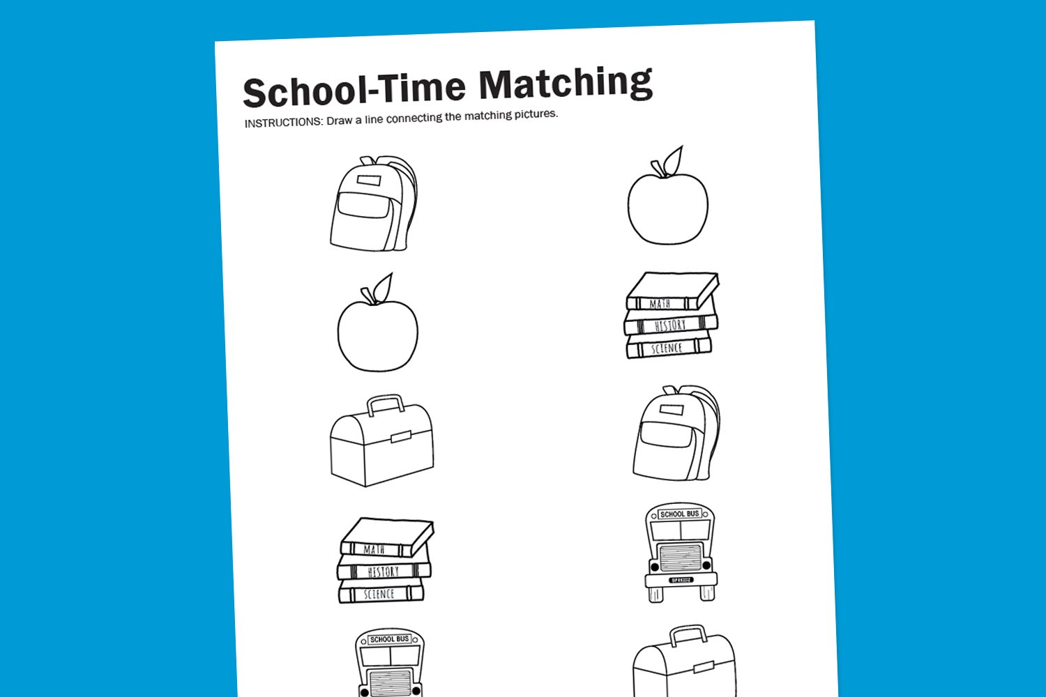 free printable worksheets worksheet wednesday school time matching paging supermom 170