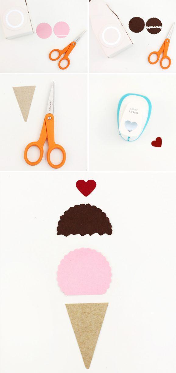 Cute Paper Ice Cream Cone Tutorial via @PagingSupermom