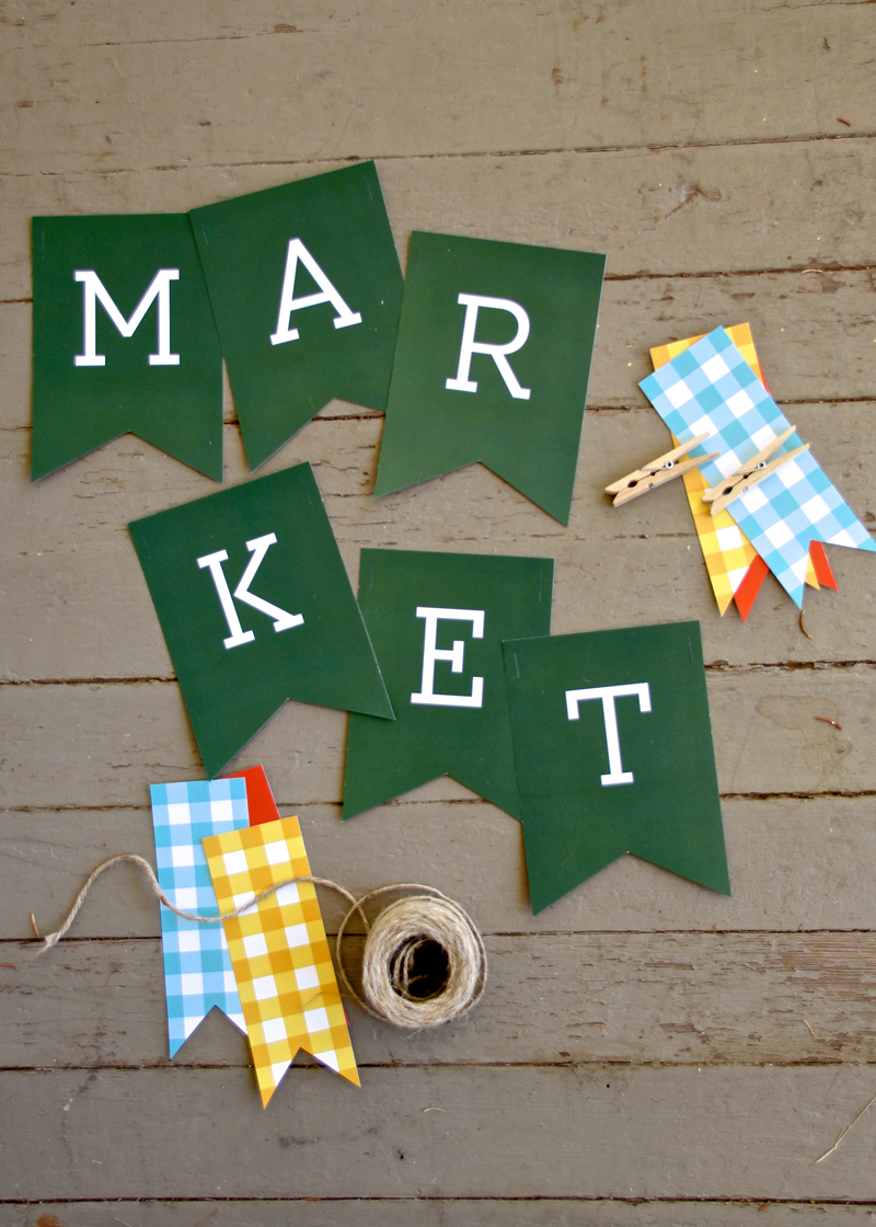 Free printables for a Market Party via @PagingSupermom