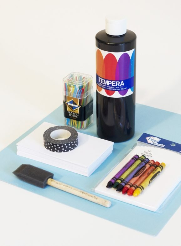 Supplies for Making a fun Scratch Book via @PagingSupermom