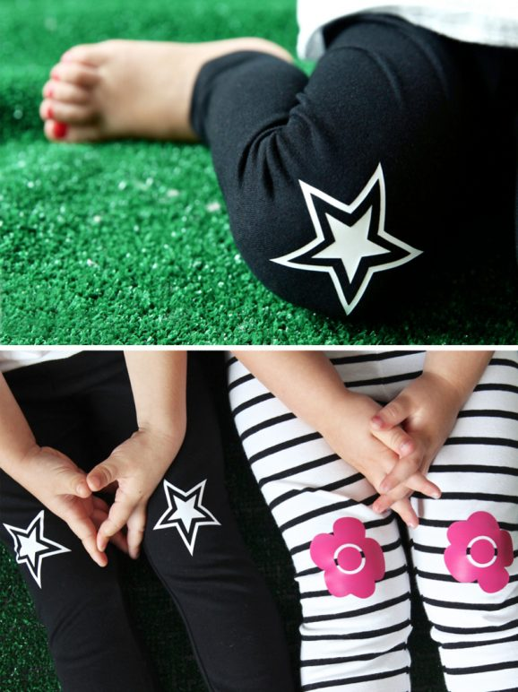 Love these Star Knee-Patch leggings from @PagingSupermom