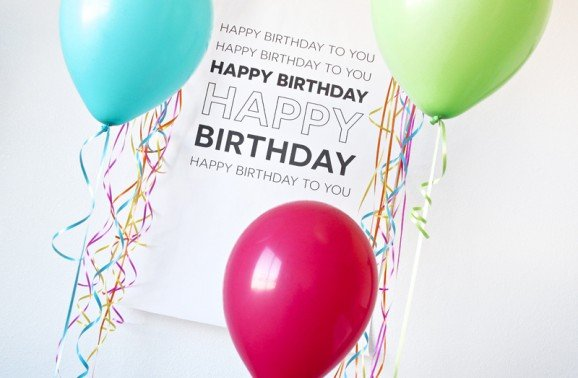 "Love this Oversized ""Happy Birthday"" poster that prints for just $5 @Staples via @PagingSupermom"