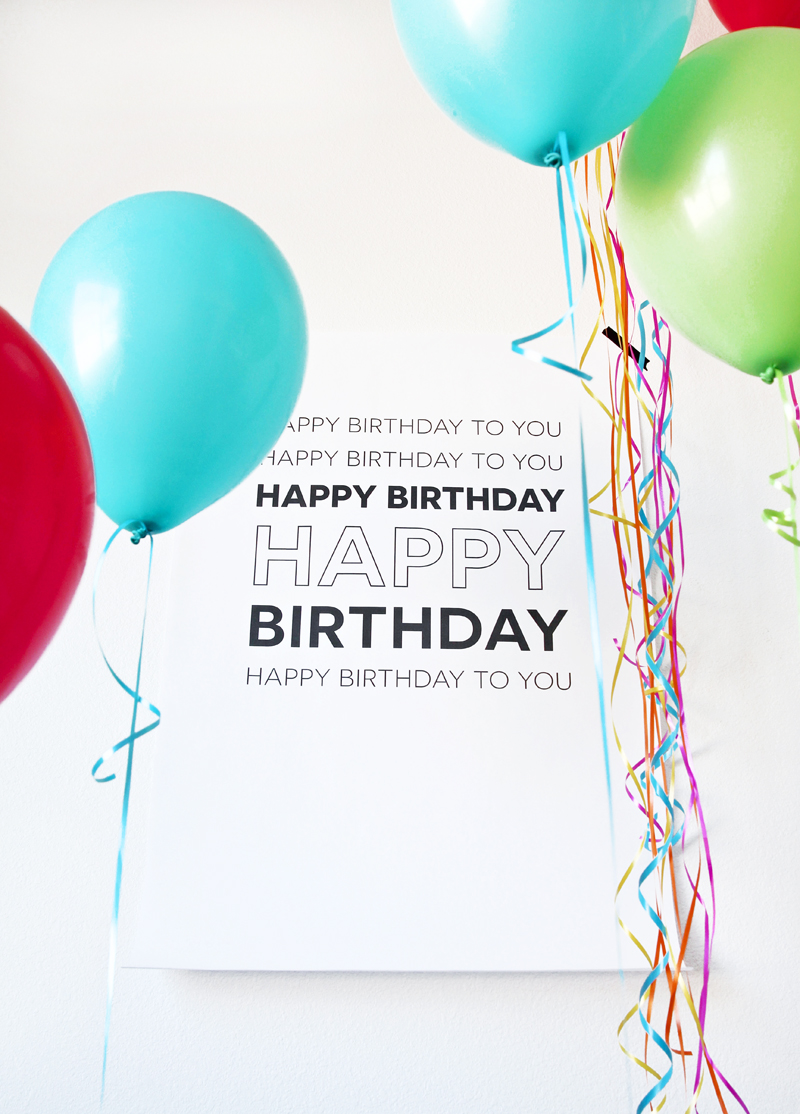 """Love this Oversized """"Happy Birthday"""" poster that prints for just $8 @Staples via @PagingSupermom"""