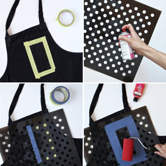 How to make a Polka-Dot Pocket Apron using #TulipForYourHome via @PagingSupermom