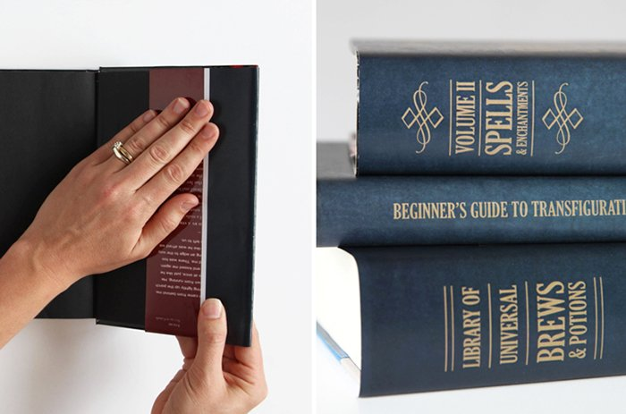 Free Printable Spell Book covers to wrap the covers around books you have