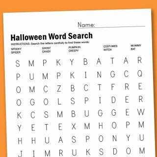 Worksheet Wednesday: Halloween Word Search