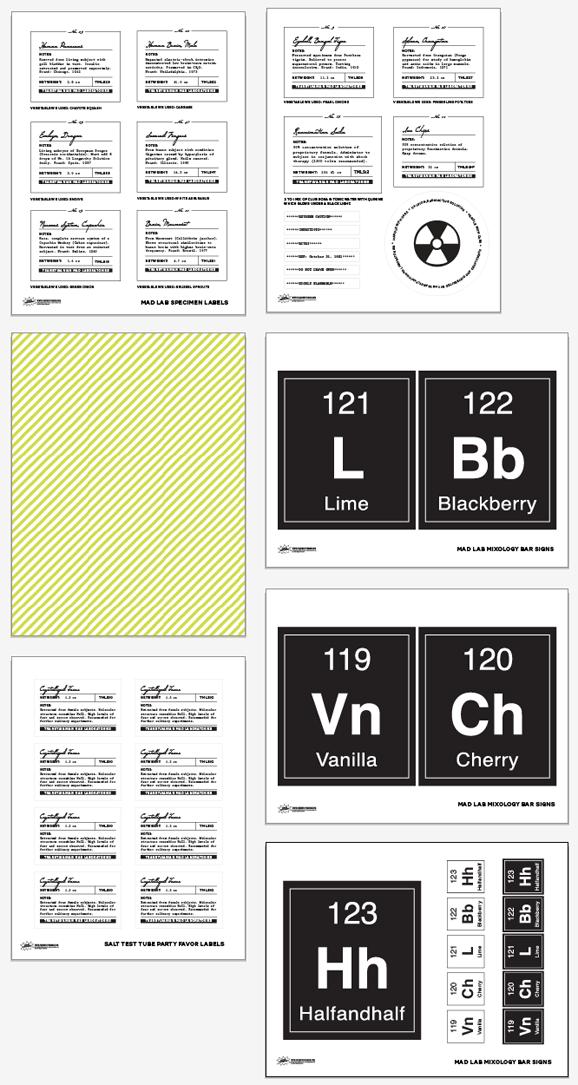 Free Printable Mad Lab Drink Table Printables