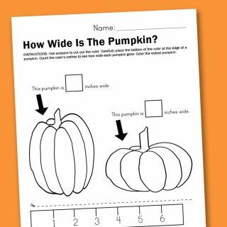 Worksheet Wednesday: Measuring Pumpkins