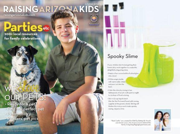 Spooky Slime Recipe in Raising Arizona Kids Magazine via @PagingSupermom