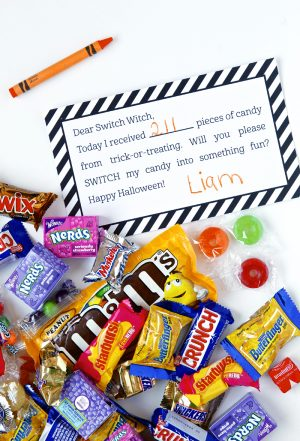 LOVE this idea -- Free Printable Switch Witch Note for getting rid of #Halloween Candy! via @PagingSupermom