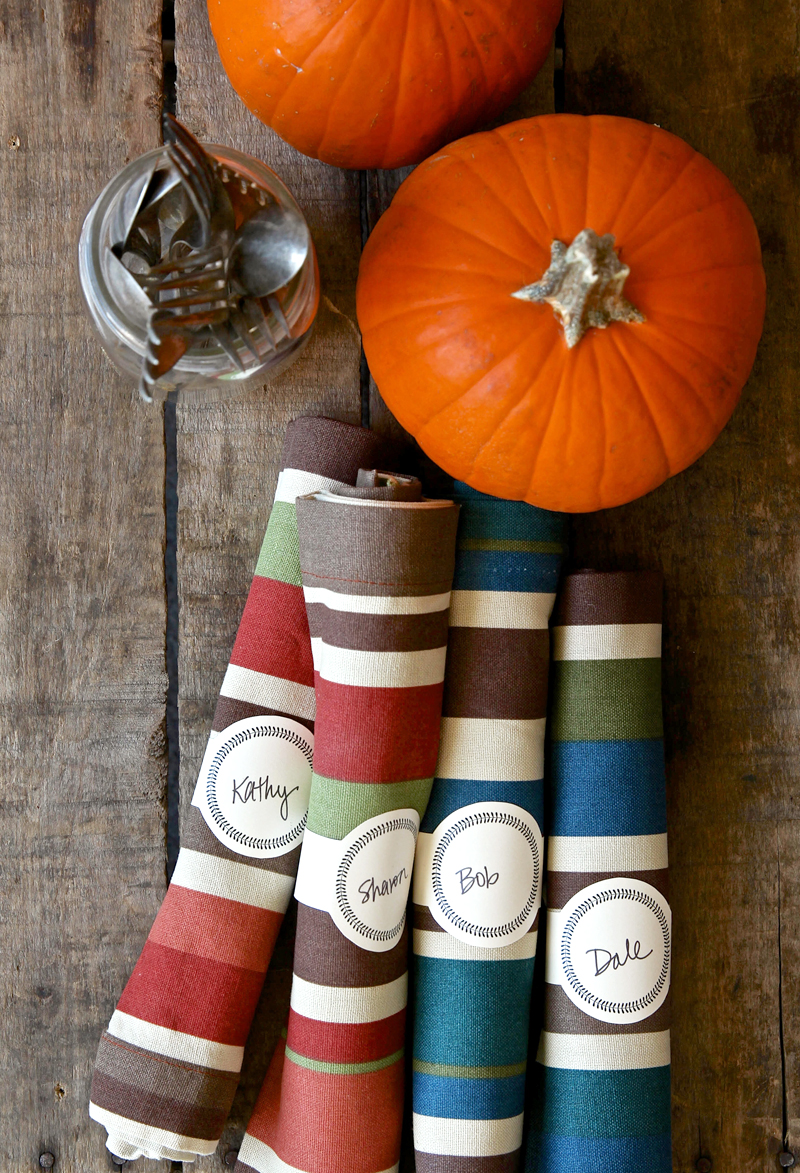 Free Printable Thanksgiving Napkin Rings