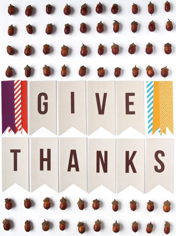 graphic regarding Printable Thanksgiving Banner known as Free of charge Printable \