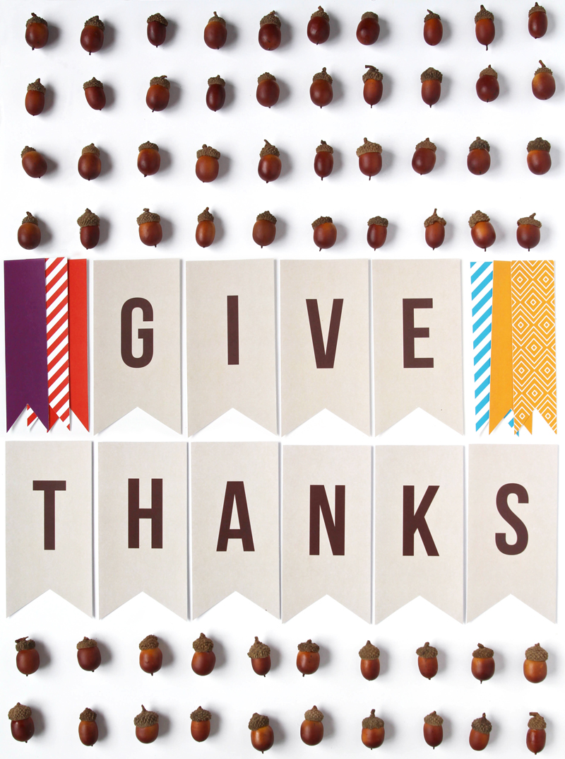 Free Printable Thanksgiving Banner - download @PagingSupermom