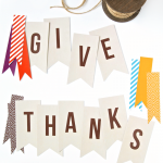 "Free Printable ""Give Thanks"" Banner"
