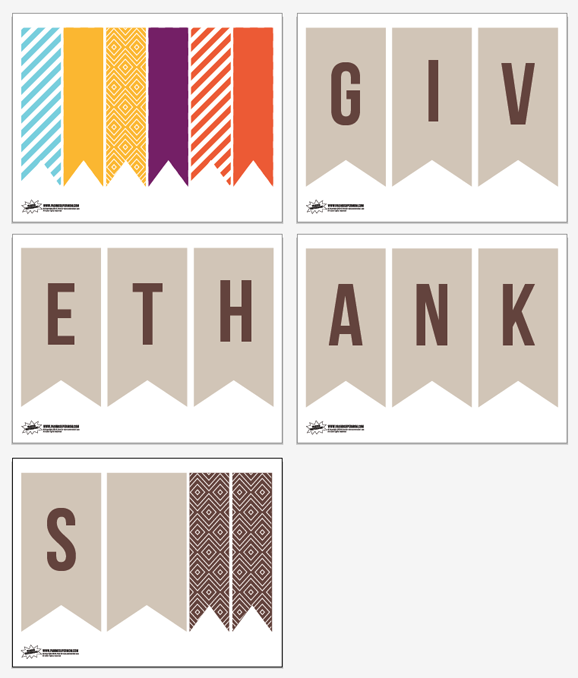 Free Printable Thanksgiving Banner
