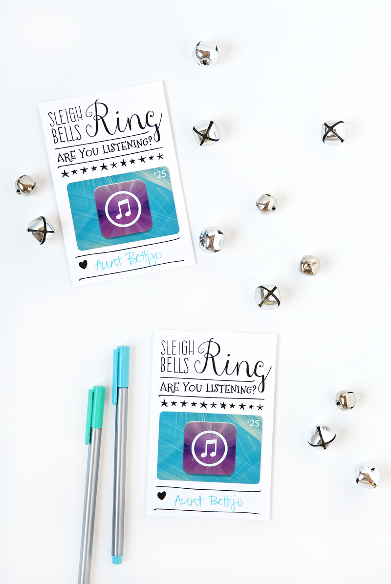 Free Printable Template is a cute way to give an iTunes Gift card. Perfect for hard-to-shop-for teens in your life.