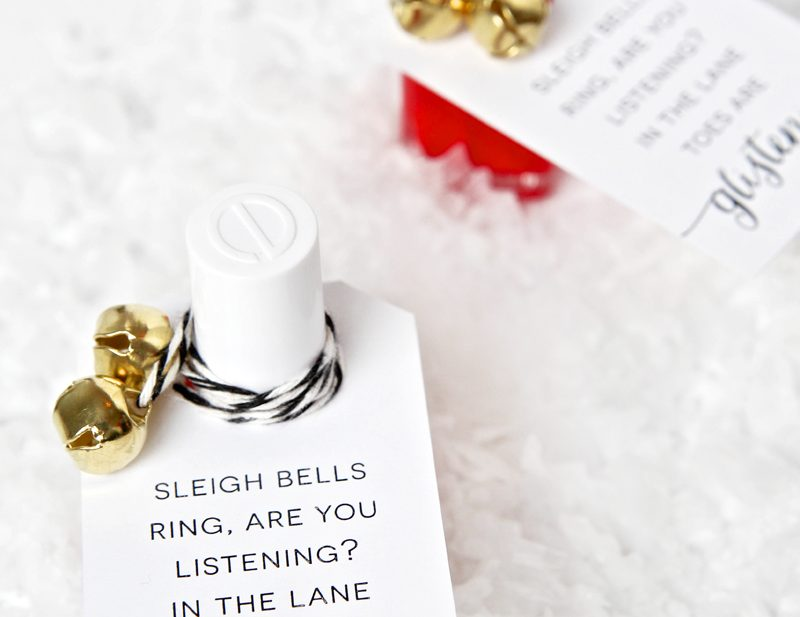 Nail Polish Christmas Gift Tags - FREE download from @PagingSupermom