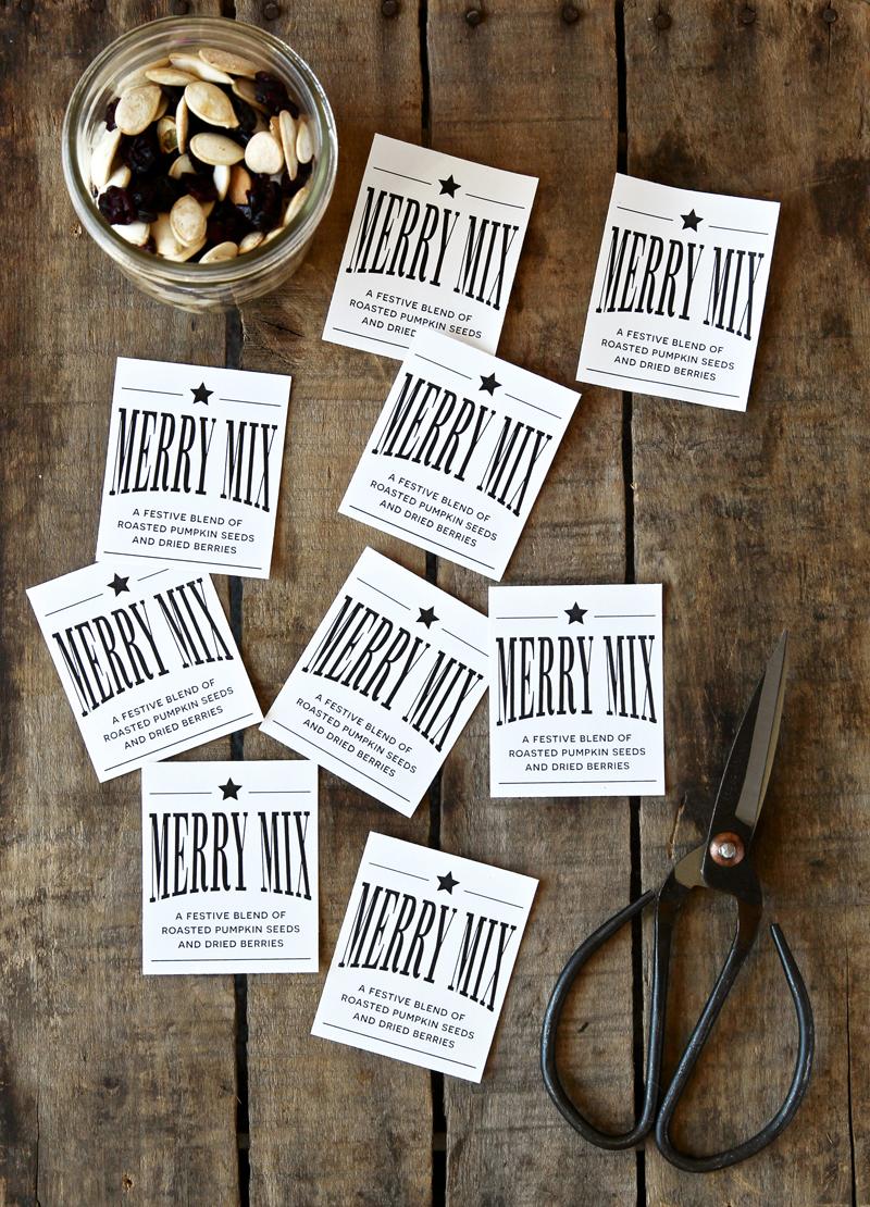 Merry Mix Free Printable Label