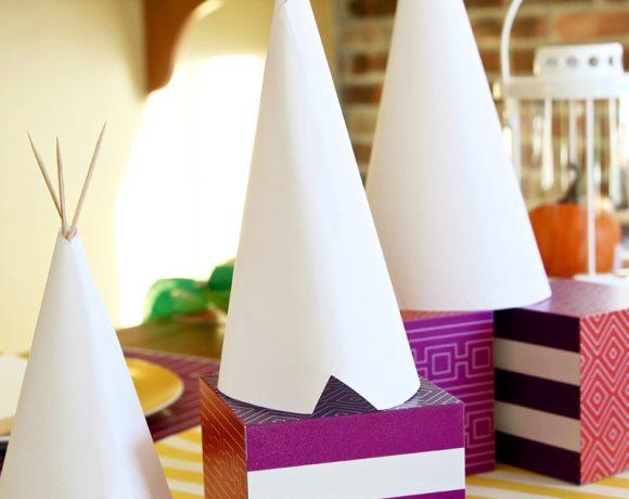 DIY Teepee Kids Craft and Centerpiece