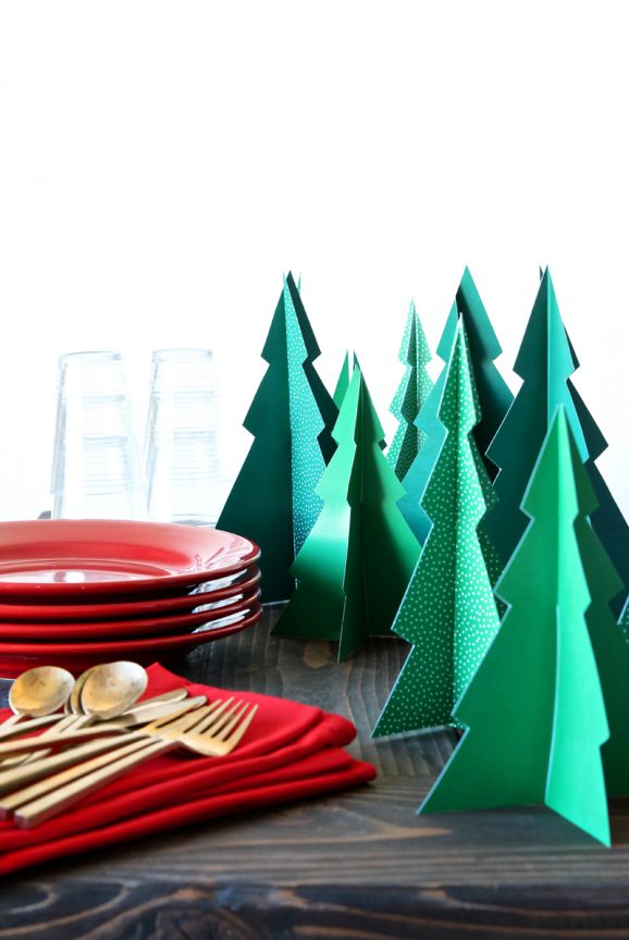 Love these free printable 3-D Pine Trees via @PagingSupermom . I want to make a whole forrest!