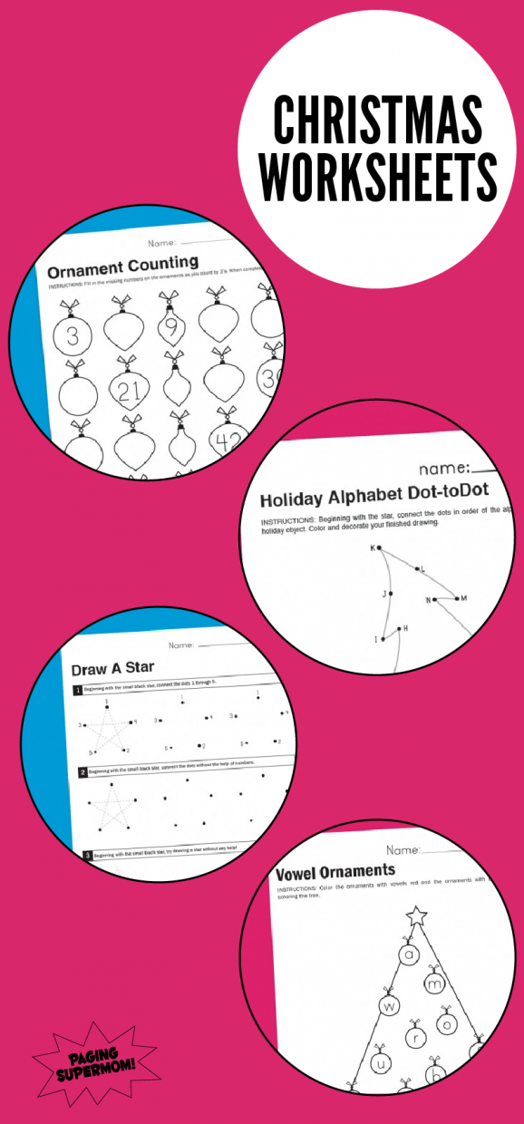 Free Printable Christmas Worksheets Paging Supermom