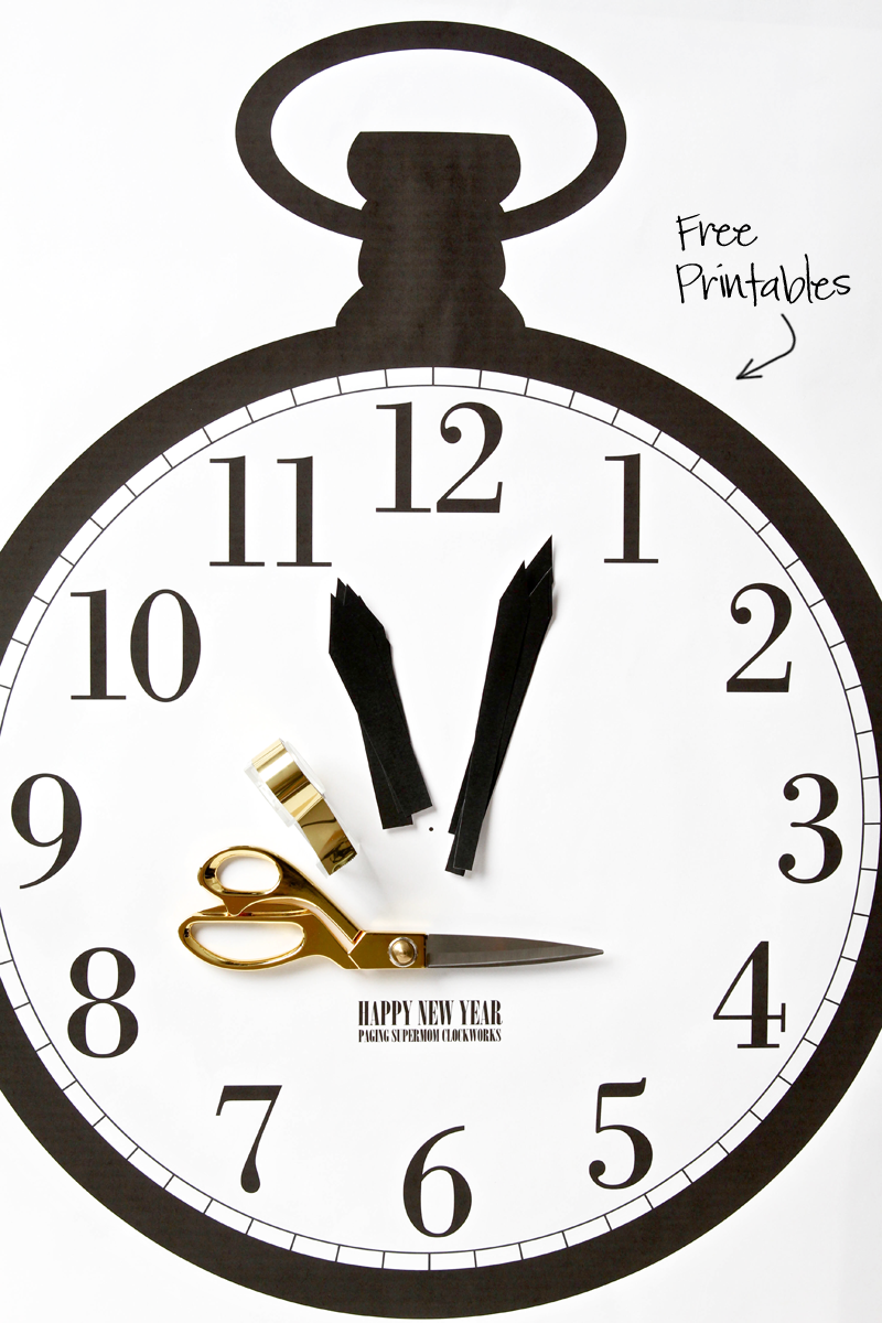 Free Printable New Year's Clock Game