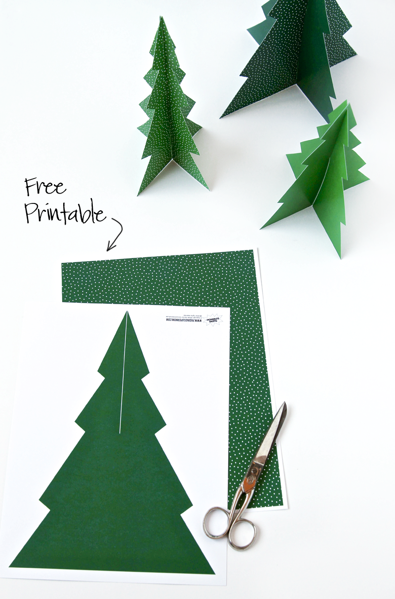 free printable pine tree forrest