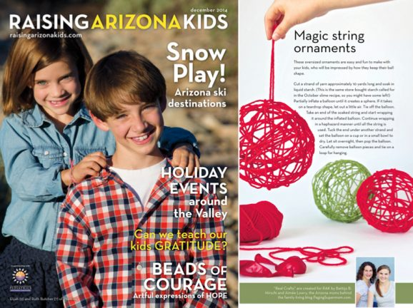 How to make Magic Yarn Ornaments via @PagingSupermom