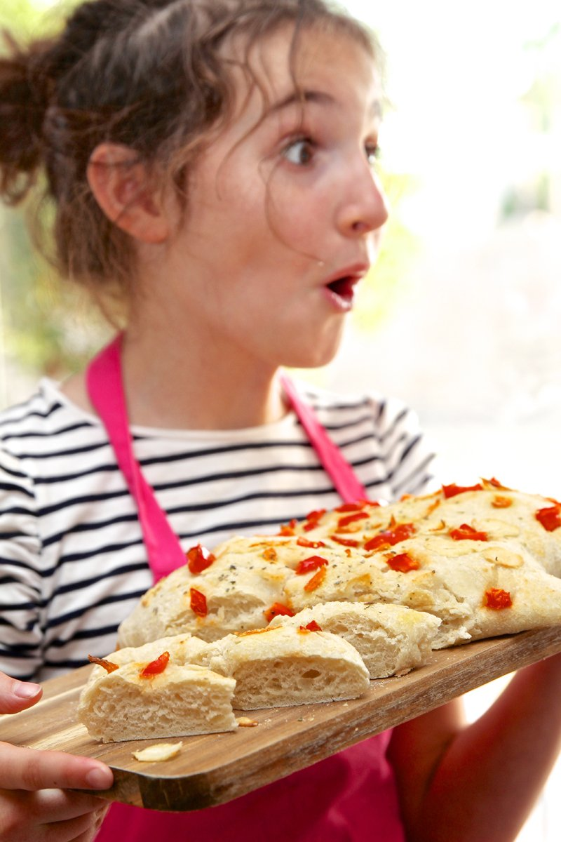 Kids Made this Focaccia and it's looks delicious! via @PagingSupermom #pureplay #tocakitchen