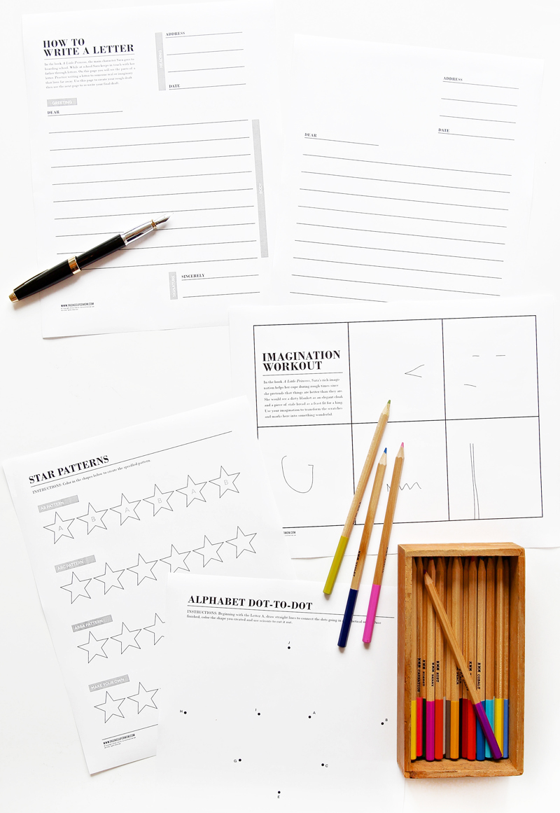 Worksheets to go along with book A Little Princes via @PagingSupermom
