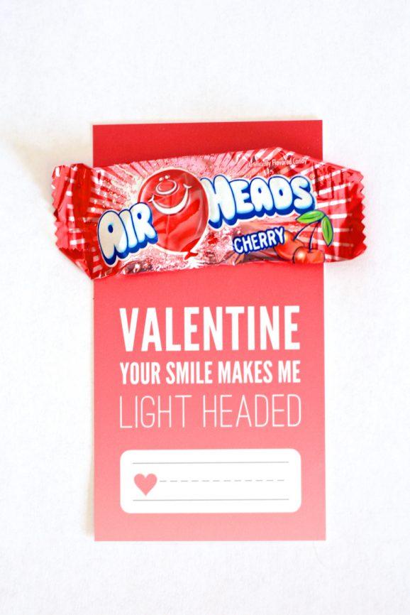 Airheads Free Printable Valentine via @PagingSupermom