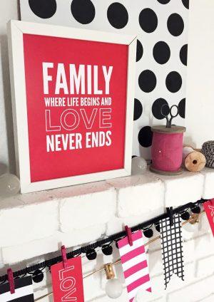 Free Printable Family Love Frameable Quote via @PagingSupermom