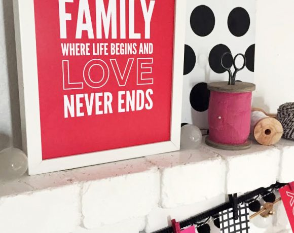 Family Love Frameable Quote