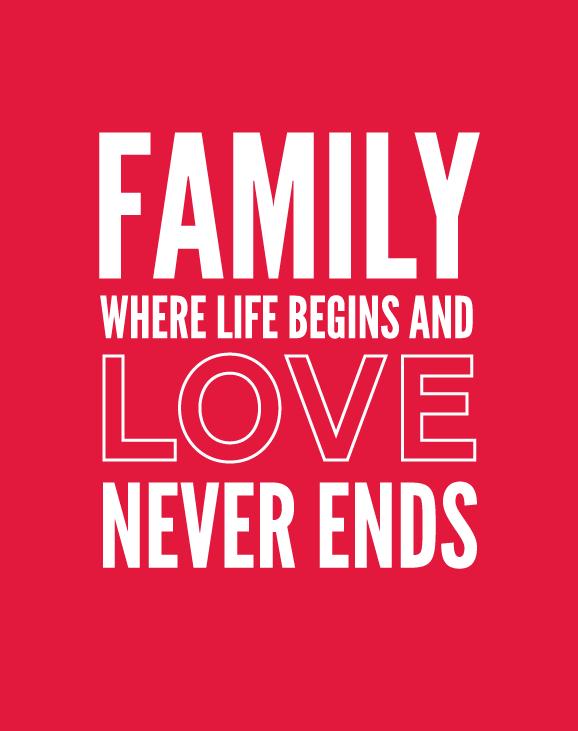 Free Printable Family Love Quote
