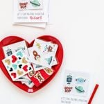 Lots of cute class valentine ideas including this super easy template to give with stickers via @PagingSupermom
